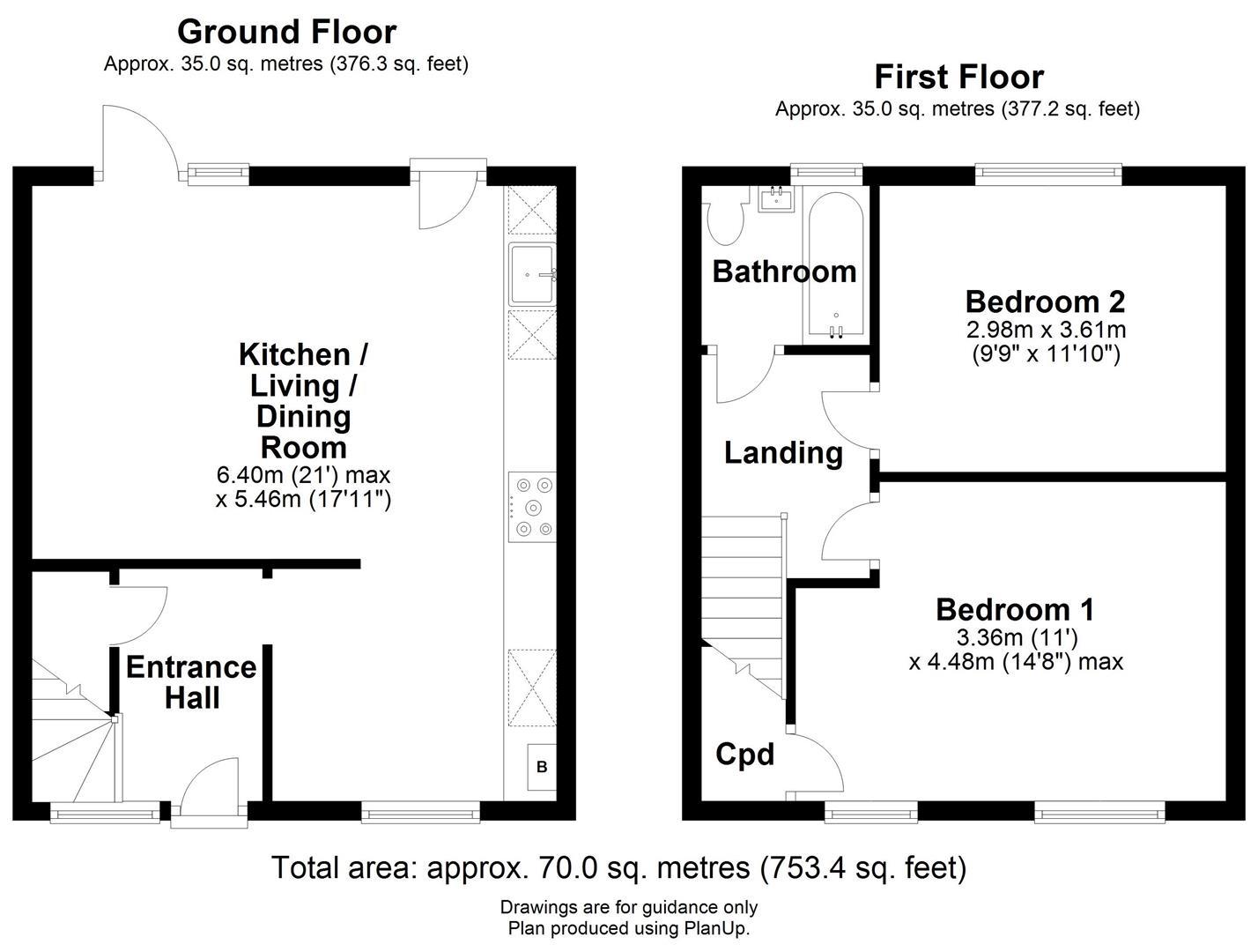Floor plan Kings Hedges Road, Cambridge